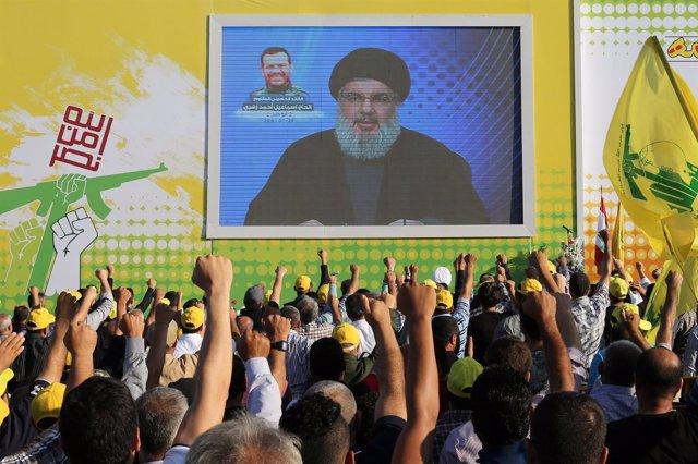 Discurso de Nasralá, líder de Hezbolá, ante sus seguidores