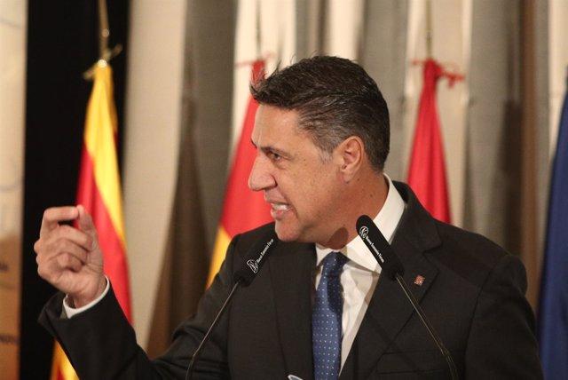 Xavier García Albiol en un desayuno