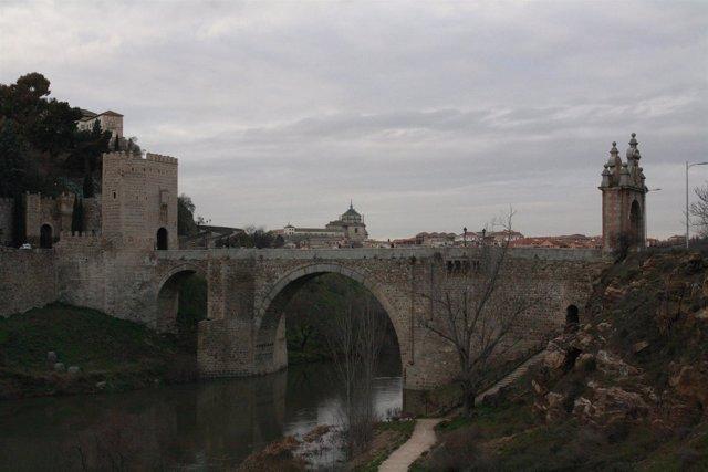 Puente, Alcántara, Monumento, Río Tajo, Agua, Cielo, Toledo