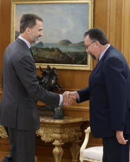 Felipe VI recibe en el Palacio de la Zarzuela al diputado de Foro Asturias