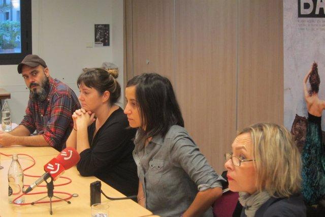 Alex Gerediaga, Olatz Gorrotxategi, Eva Guerrero y Alicia Otxandategi