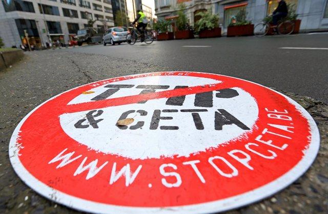 Movilización de protesta contra el TTIP y el CETA