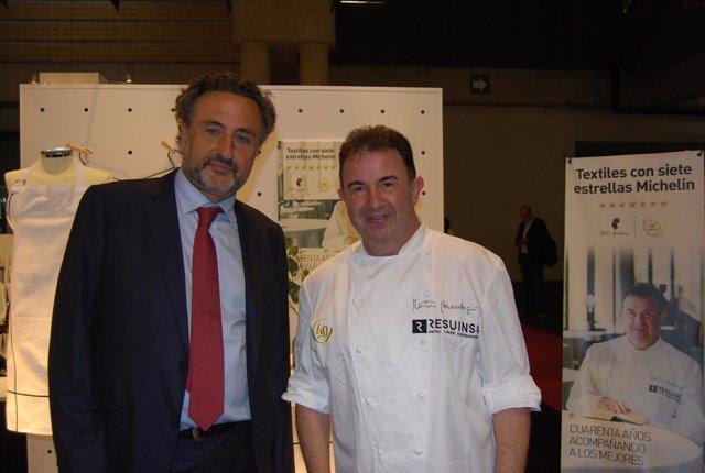 Félix Martí (Resuinsa) y el chef Martín Berasategui