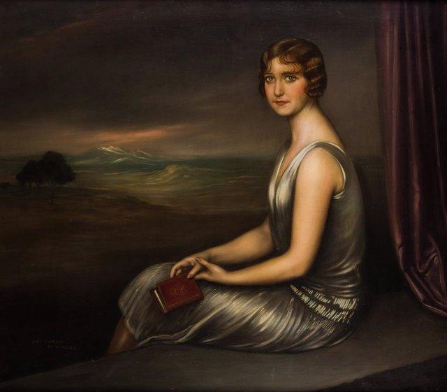 'Retrato De Joven Dama', De Julio Romero De Torres