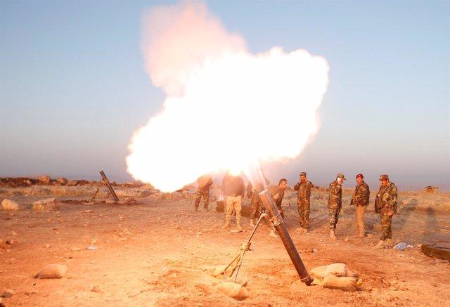 Fuerzas peshmerga en la ofensiva para retomar Mosul