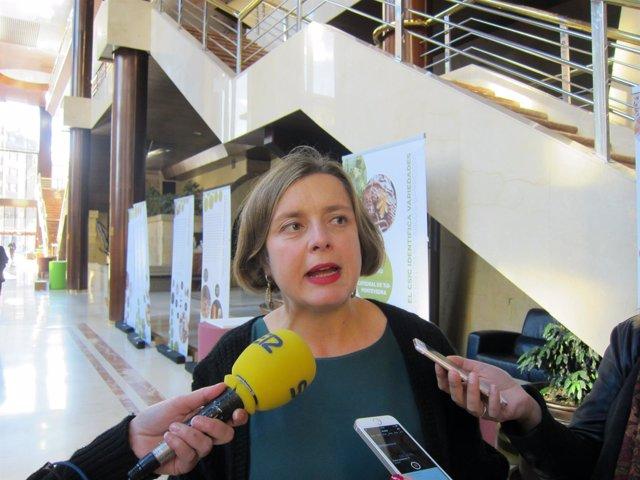 La portavoz de Somos Oviedo, Ana Taboada