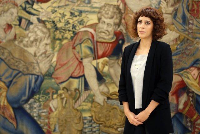 La portavoz de En Marea en el Congreso, Alexandra Fernández, se reúne con el Rey