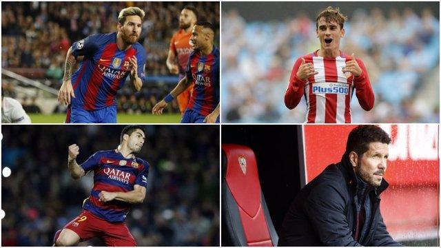 Leo Messi Antoine Griezmann Luis Suárez Simeone Premios LaLiga