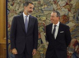 El Rey dice a Baldoví que no hay que temer una reforma constitucional con sentido común