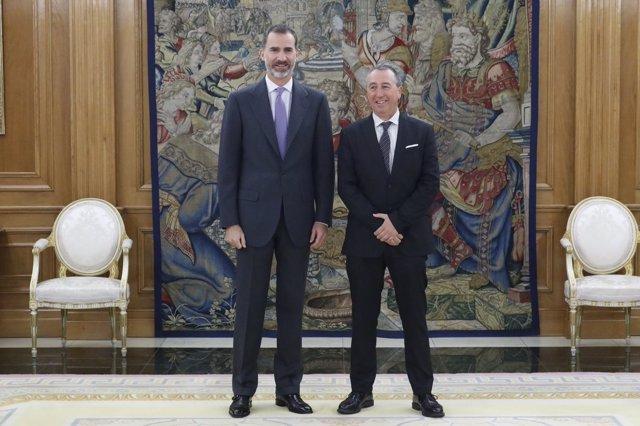 Felipe VI y Joan Baldoví