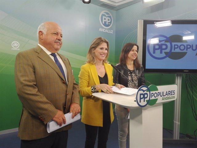 Ana Mestre, hoy junto a Jesús Aguirre y Ana Vanessa García