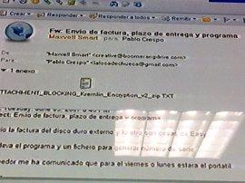 La fiscal pregunta a Crespo si recibió en su mail 'lalocadechueca' un programa de encriptación de documentos