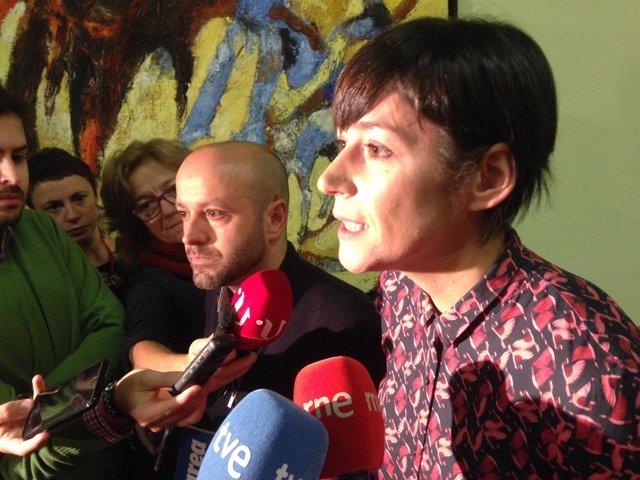 Luís Villares (En Marea) y Ana Pontón (BNG) tras reunión AP-9