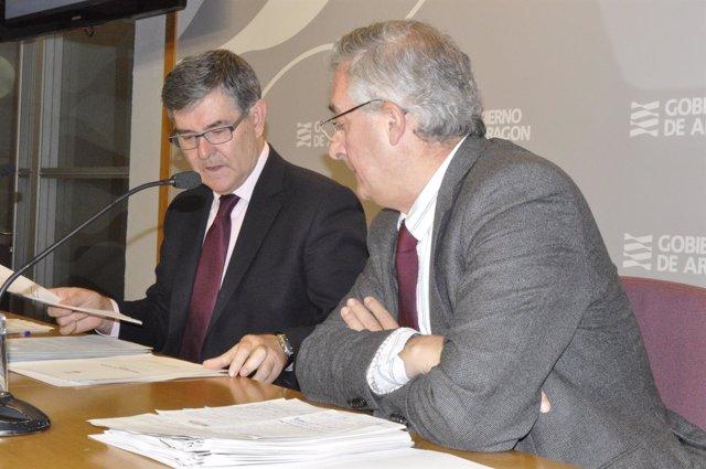 Vicente Guillén y Joaquín Olona, consejeros de Presidencia y Desarrollo Rural.