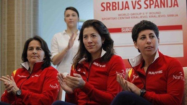 Conchita Martínez, Garbiñe Muguruza y Carla Suárez