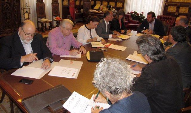 Primera reunión del Consejo del Diálogo Social de Valladolid