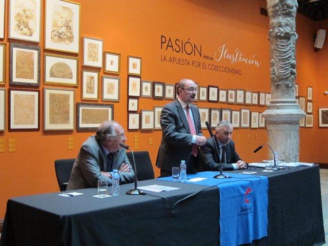 Lambán ha participado en la presentación del análisis de Funcas