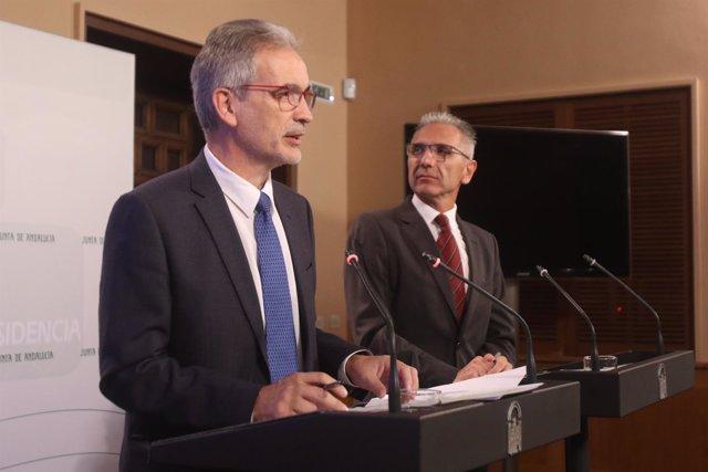 El consejero de Salud, Aquilino Alonso, tras el Consejo de Gobierno