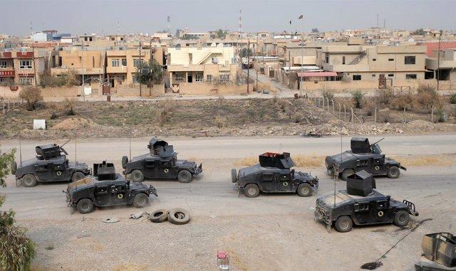 Fuerzas especiales iraquíes que participan en la ofensiva sobre Mosul
