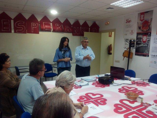 La diputada Carmen Belén López ha participado en el taller de trabajo.