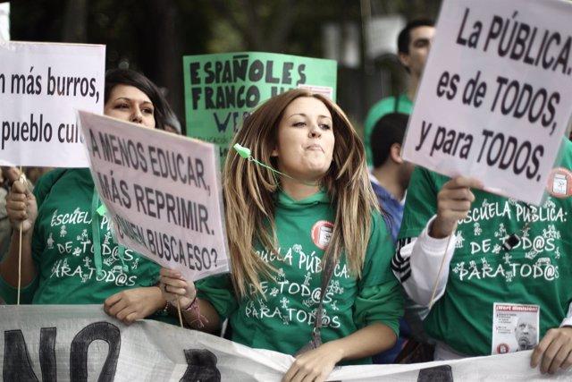 Manifestación contra la LOMCE y los recortes en Educación en Madrid