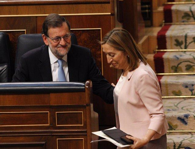 El presidente Mariano Rajoy y Ana Pastor