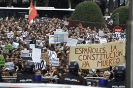 Los organizadores de la protesta contra la investidura de Rajoy prevén convocarla el sábado por la tarde