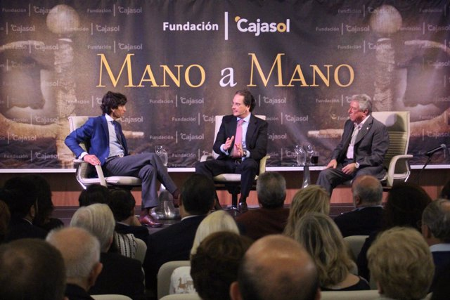 Curro Díaz y Nano de Jerez en el 'Mano a mano' de Cajasol