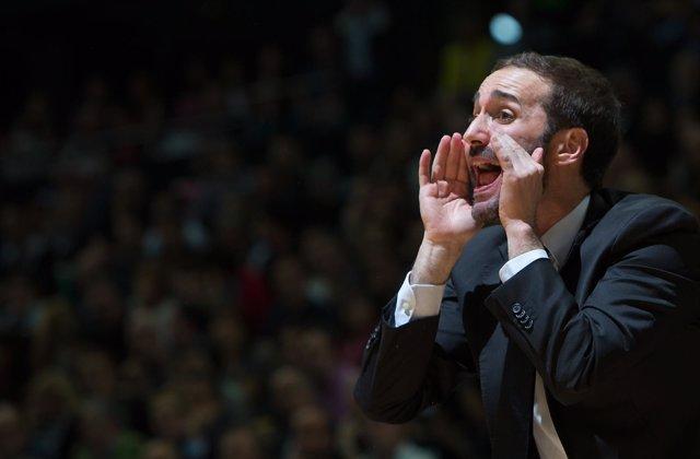 Sito Alonso entrenador del Dominion Bilbao Basket.
