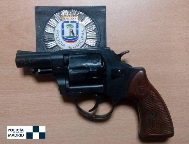Imagen del revolver modificado