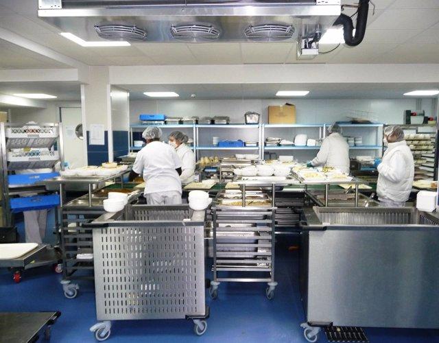 Cocinas del Complejo Hospitalario de Navarra (CHN).