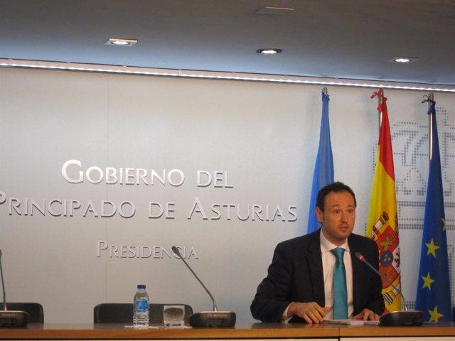 El consejero de Presidencia y portavoz del Principado, Guillermo Martínez