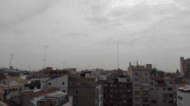 Cielo nublado en Valencia