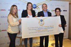 Mireia Belmonte y P&G entregan 13.000 comidas a Aldeas Infantiles SOS