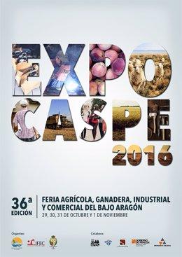 Cartel anunciador de la 36ª edición de Expo Caspe