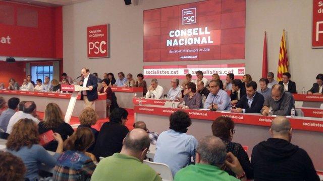 Miquel Iceta en el Consell Nacional