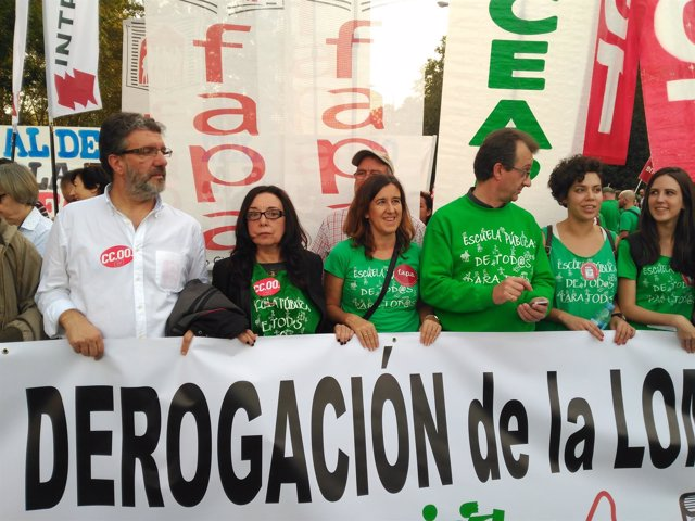 Manifestación en Madrid contra las reválidas