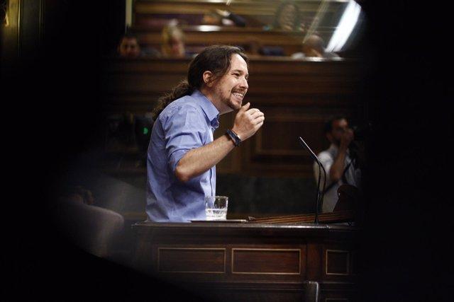 Pablo Iglesias en el debate de investidura en el Congreso