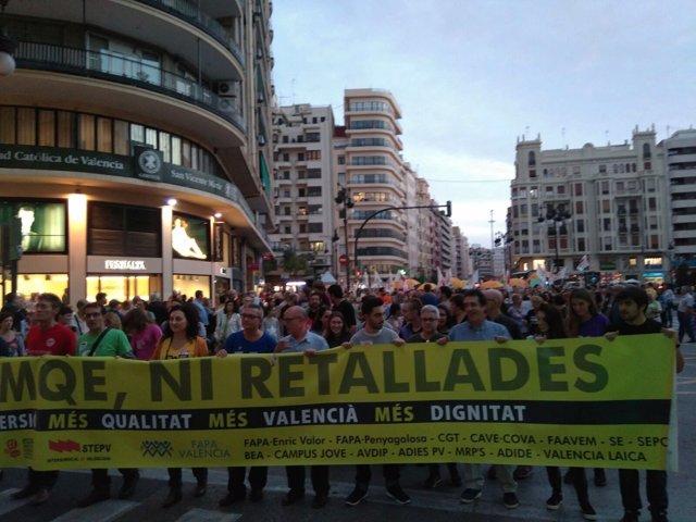 Manifestación en contra de la LOMCE