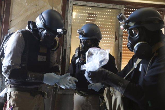 Expertos de la ONU en armas químicas en Siria