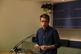 """Errejón dice que Rajoy ha representado su papel tras el """"golpe palaciego"""" de Ferraz"""