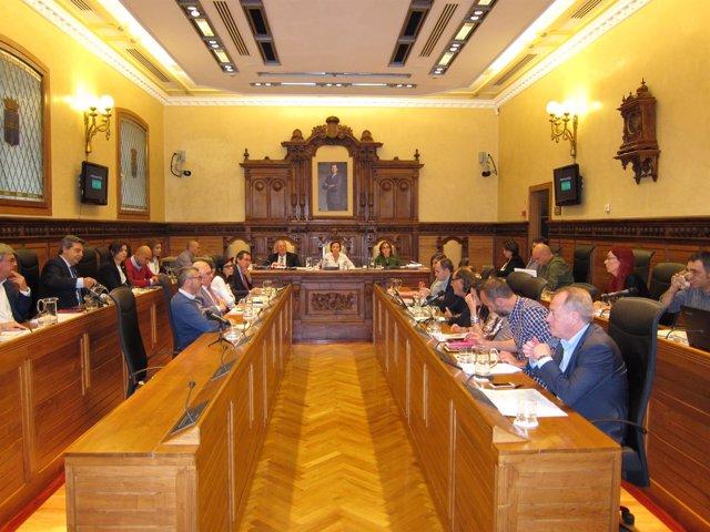 Pleno en el Ayuntamiento de Gijón.