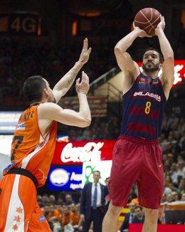 Pau Ribas y Rafa Martínez, Valencia Basket - FC Barcelona Lassa