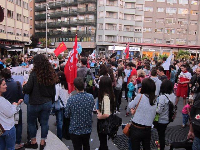 Protesta contra la Lomce en Santiago