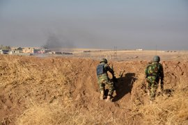 Los peshmerga arrebatan a Estado Islámico el control de la localidad de Derk (Irak)