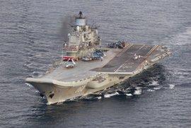 """Rusia ve """"infundada"""" la preocupación de la OTAN por su portaaeronaves en el Mediterráneo"""
