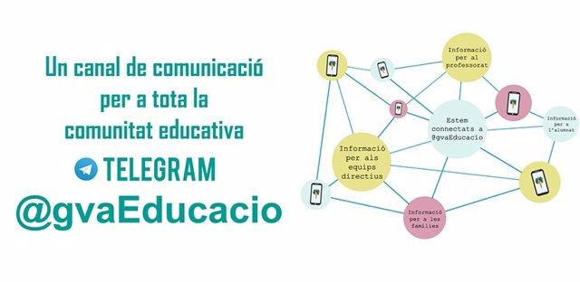 @Gvaeducacio, Un Nuevo Canal De Comunicación Vía Telegram