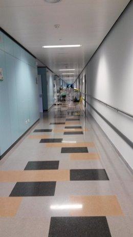 Pasillos del HUCA, Hospital Universitario Central de Asturias
