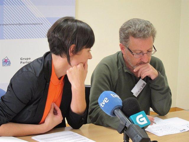 Ana Pontón (BNG) y Suso Seixo (CIG), en rueda de prensa