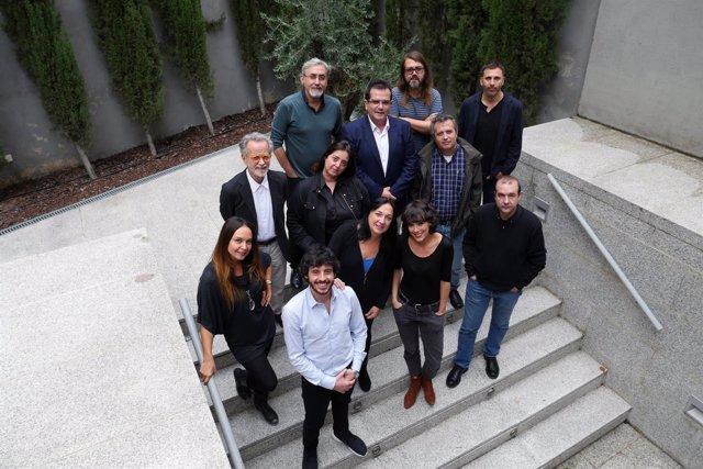 El jurado delibera los premios del Festival Internacional de Cine de Almería.